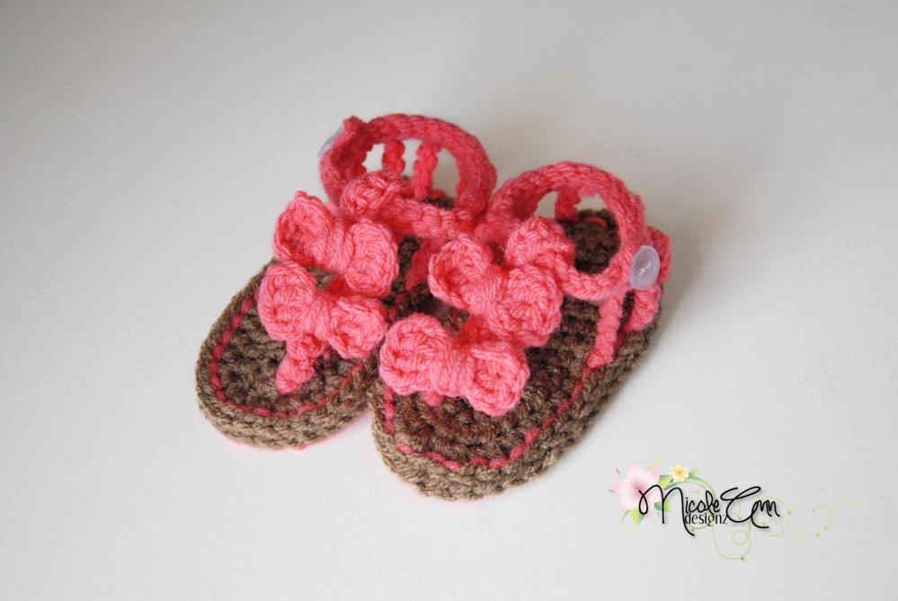 Baby Crochet Sandals Free Pattern